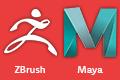 Zbrush, Autodesk Maya